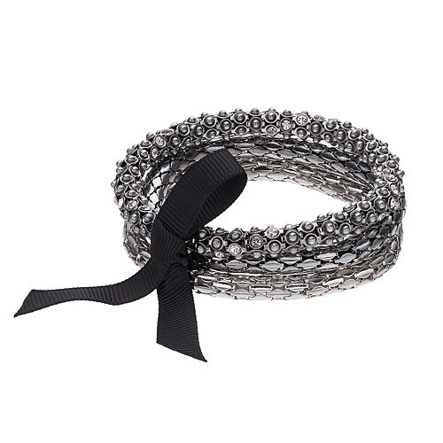 Simply Vera Vera Wang Ribbon Tie Multi Strand Stretch Bracelet