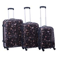 American Flyer Swirl 3 pc Hardside Spinner Luggage Set
