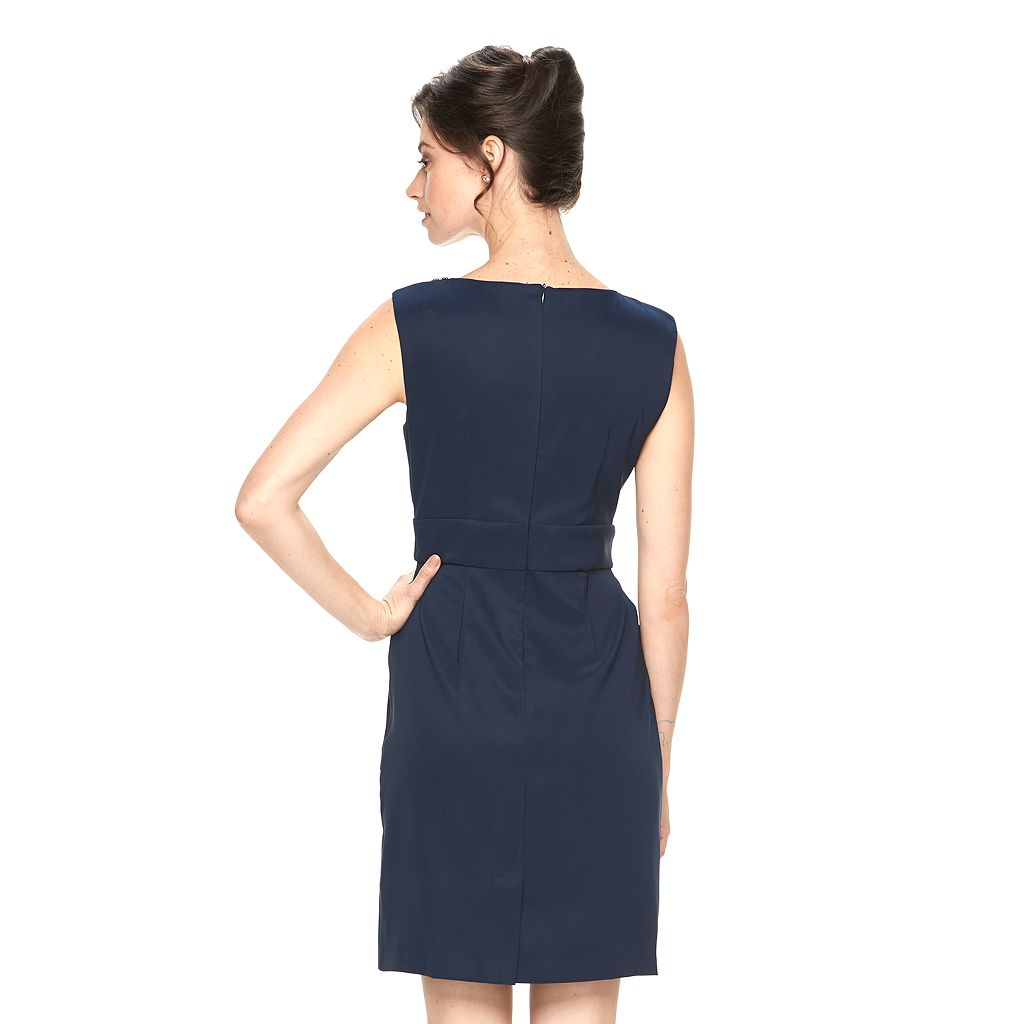 Women's Connected Apparel Tiered Embellished Sheath Dress
