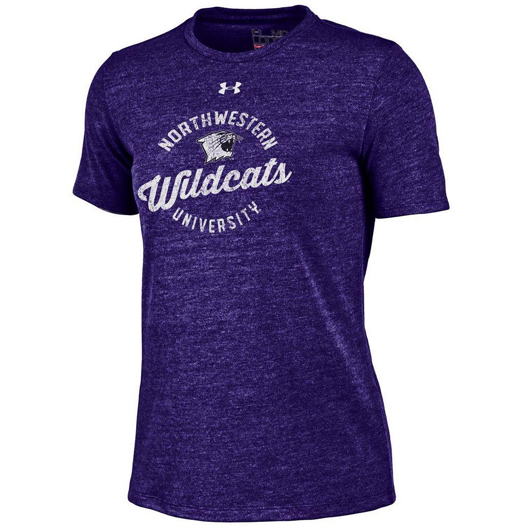 Women's Under Armour Northwestern Wildcats Triblend Tee