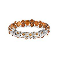 Sterling Silver Madeira Citrine Eternity Ring