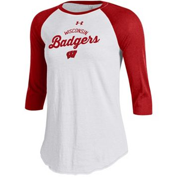 Women's Under Armour Wisconsin Badgers Baseball Tee
