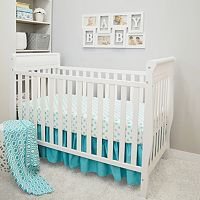 TL Care 3 pc Polka-Dot Crib Bedding Set