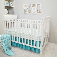 TL Care 3 pc Polka-Dot Crib Bedding Set