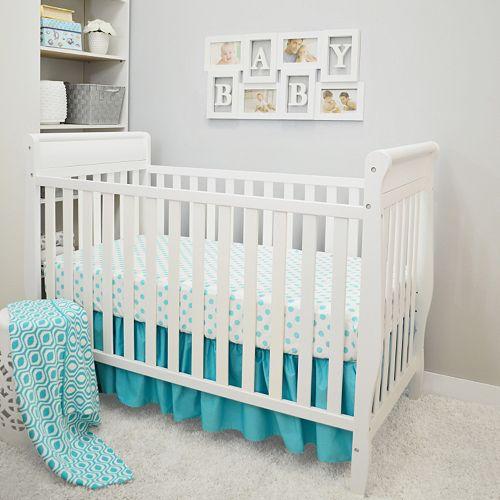 TL Care 3-pc. Polka-Dot Crib Bedding Set