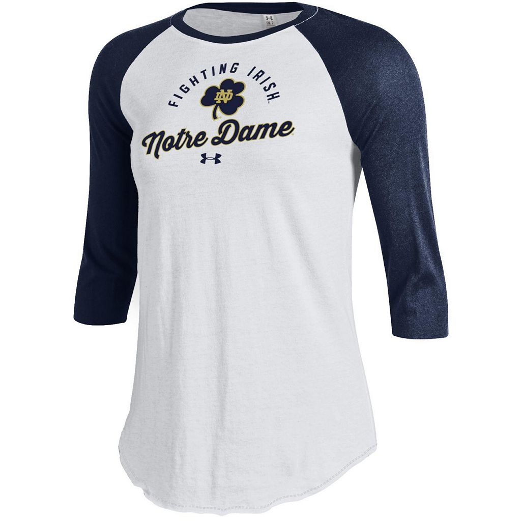 Women's Under Armour Notre Dame Fighting Irish Baseball Tee