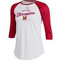 Women's Under Armour Maryland Terrapins Baseball Tee
