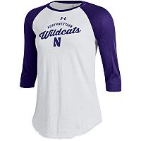 Women's Under Armour Northwestern Wildcats Baseball Tee