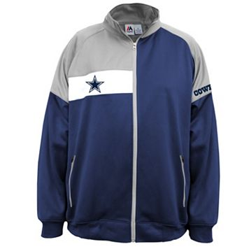 Big & Tall Majestic Dallas Cowboys Fleece Logo Jacket