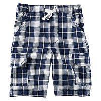 Boys 4-8 Carter's Plaid Cargo Shorts