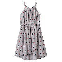 Girls 4-10 Jumping Beans® Stars & Hearts Tulip Hem Dress