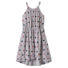 Girls 4-10 Jumping Beans® Stars & Hearts Tulip Hem Dress