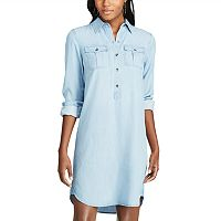 Petite Chaps Twill Shirt Dress