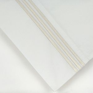 Pointehaven 2-pack 300 Thread Count Embroidered Pillowcase