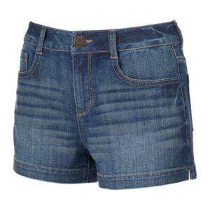 Juniors' SO® Faded Jean Shortie Shorts