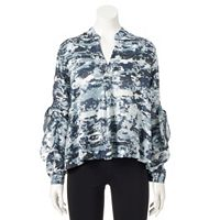 Women's Rock & Republic® Tie-Sleeve Top
