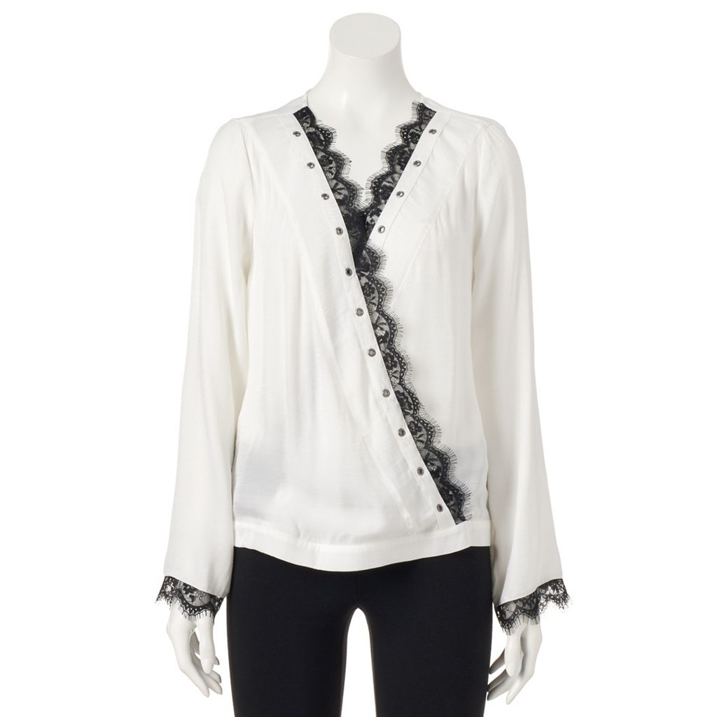 Women's Rock & Republic® Wrap Lace Top