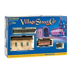 Bachmann Trains Christmas Village Streetcar On 30 Scale Ready-To-Run Electric Train Set by
