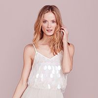 LC Lauren Conrad Dress Up Shop Collection Paillette Tank - Women's