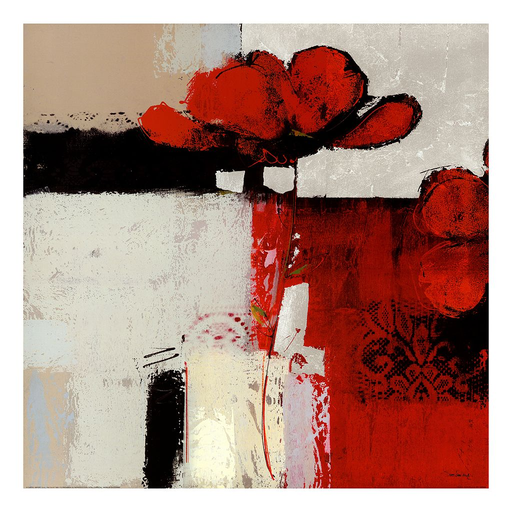 Art.com Flor Roja IV Wall Art Print