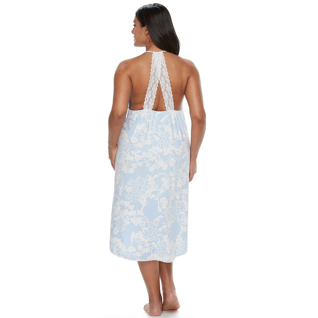 Plus Size Apt. 9® Pajamas: Knit High-Low Midi Nightgown