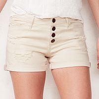 Women's LC Lauren Conrad Ripped Cuffed Jean Shorts