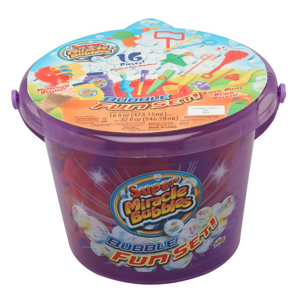 Super Miracle Bubbles Premium Bubble Fun Bucket