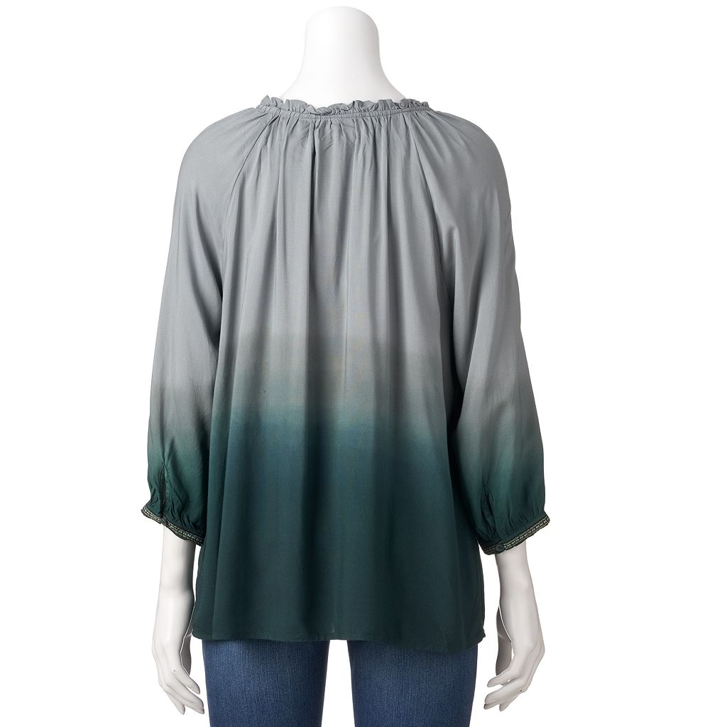 Petite SONOMA Goods for Life™ Dip-Dye Peasant Top