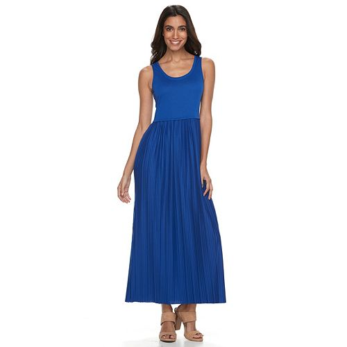 Petite Apt. 9® Accordion-Pleat Maxi Dress
