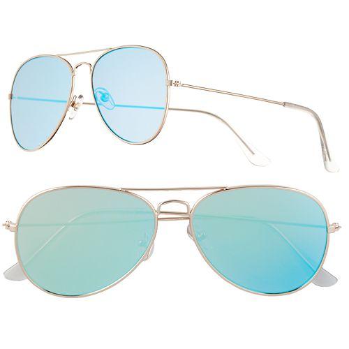70bf4a8e5b13e Men s Apt. 9® Gold Mirror Aviator Sunglasses