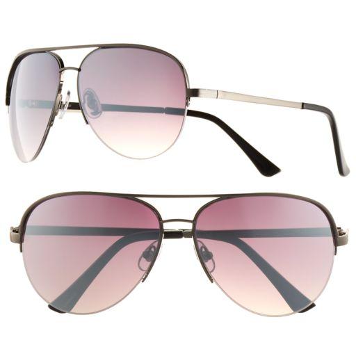 Men's Apt. 9® Gun Metal Aviator Sunglasses