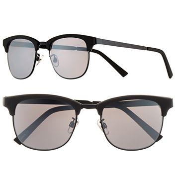 Men's Apt. 9® Matte Black Clubmaster Sunglasses