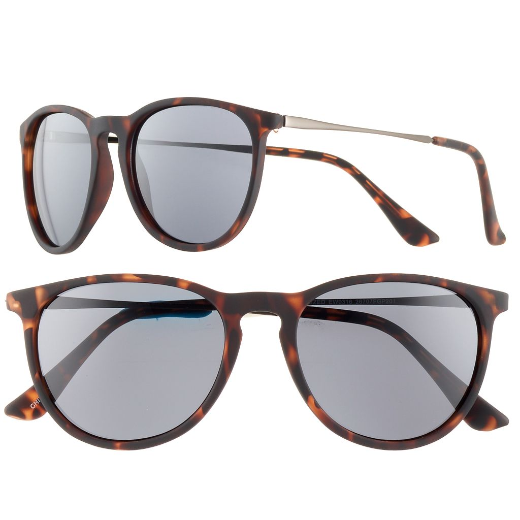 Men's Apt. 9® Round Tortoise Sunglasses