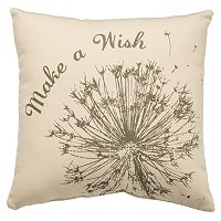 ''Make A Wish'' Dandelion Throw Pillow