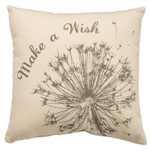 ''Make A Wish'' Dandelion Throw Pillow