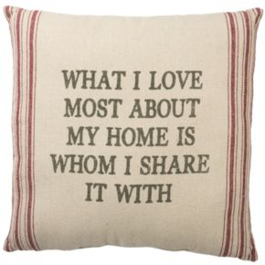 ''What I Love Most'' Throw Pillow