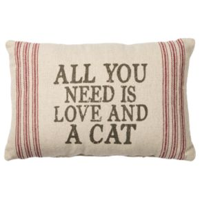 ''All You Need Is Love And A Cat'' Throw Pillow