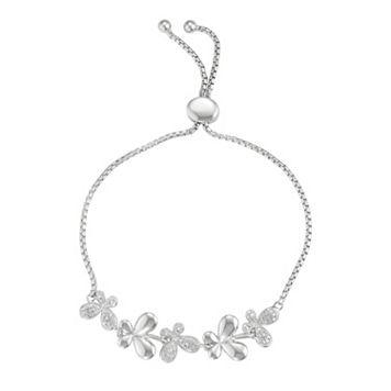 Sterling Silver Butterfly Bolo Bracelet
