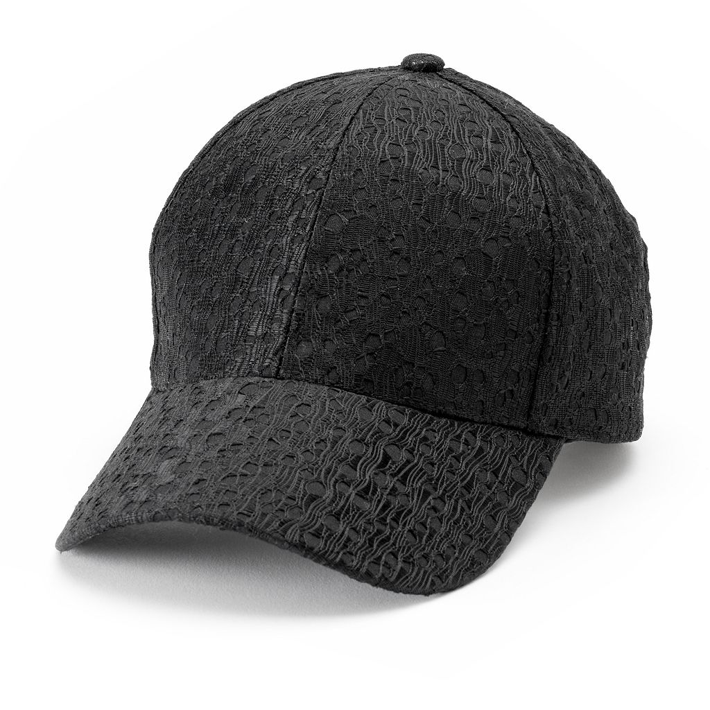 Women's SO® Allover Subtle Lace Baseball Cap