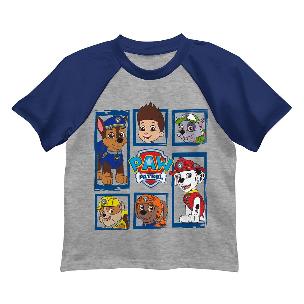 Boys 4-7 Paw Patrol Chase, Rocky & Marshall Graphic Tee