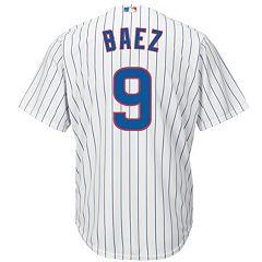 936ca457087 Men s Majestic Chicago Cubs Javier Baez Cool Base Replica Jersey