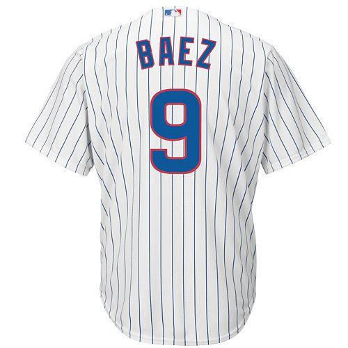 Men's Majestic Chicago Cubs Javier Baez Cool Base Replica Jersey