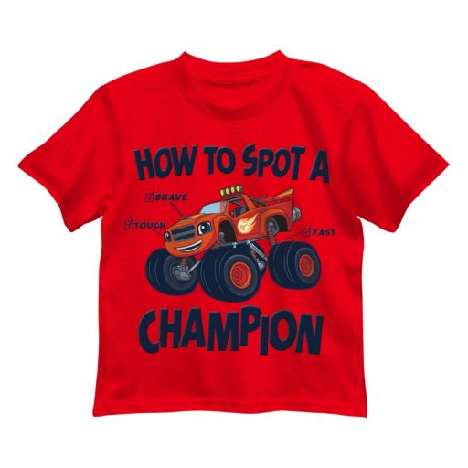 """Boys 4-7 Blaze and the Monster Machines """"How to Spot a Champion"""" Graphic Tee"""