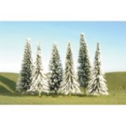 Bachmann Trains HO Scale Snowy Pine Trees