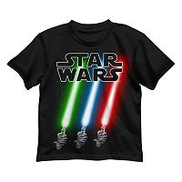 Boys 4-7 Star Wars Slanted Lightsabers Graphic Tee