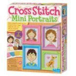 4M Cross Stitch Mini Portraits Craft Sewing Kit