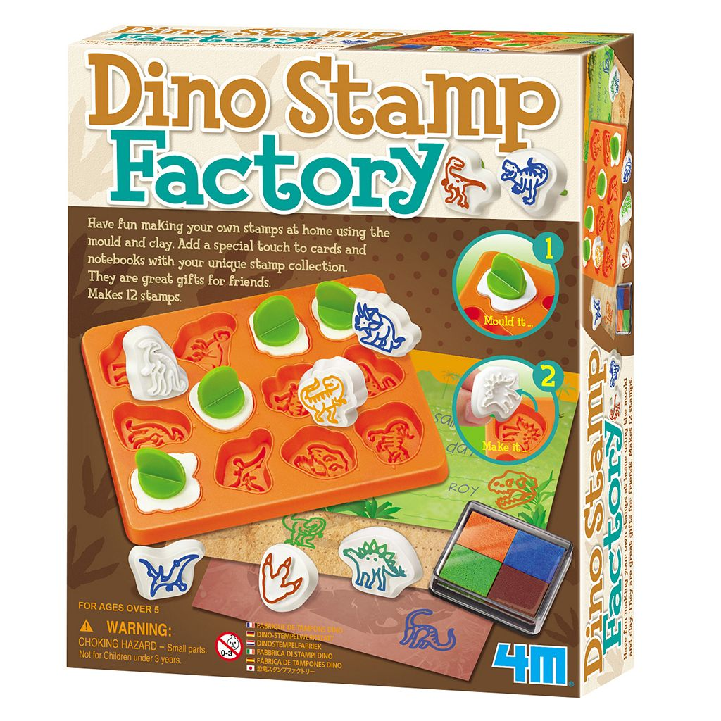 4M Build-Your-Own Dino Stamp Factory