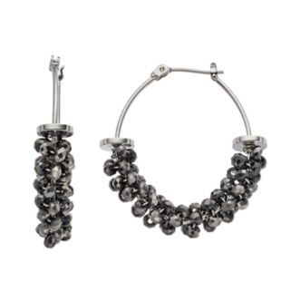 Simply Vera Vera Wang Beaded Hoop Earrings