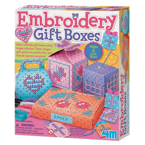 4M Make-Your-Own Embroidery Gift Boxes Craft Kit