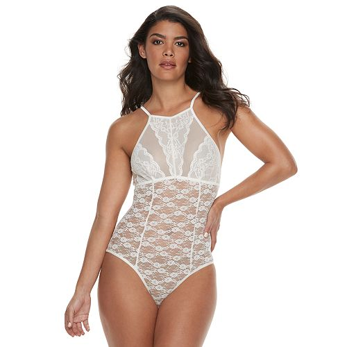 50b6d41b788b Women's Apt. 9® Touch of Blue Bridal Sheer Lace Bodysuit